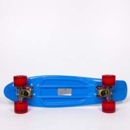 Fish skateboards Blue / Silver / Clear Red