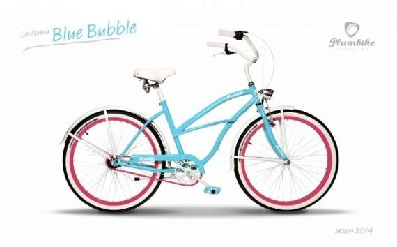 Cruiser Plumbike La Donna Blue Bubble