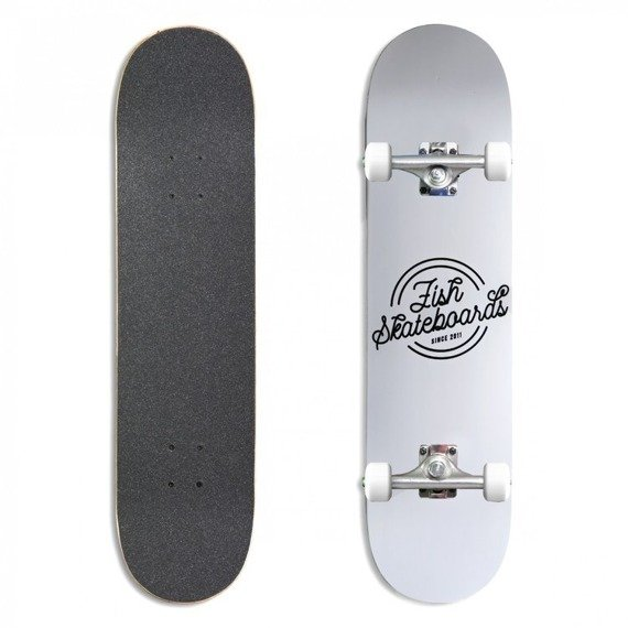 Deskorolka Fish Skateboards Retro White 8""