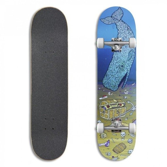 Deskorolka Fish Skateboards Trash Whale 8""