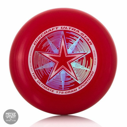 Dysk Frisbee DISCRAFT Ultra-Star 175gr Dark Red