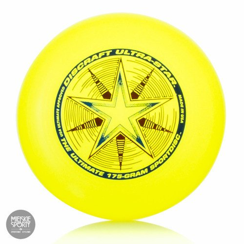 Dysk Frisbee DISCRAFT Ultra-Star 175gr Yellow