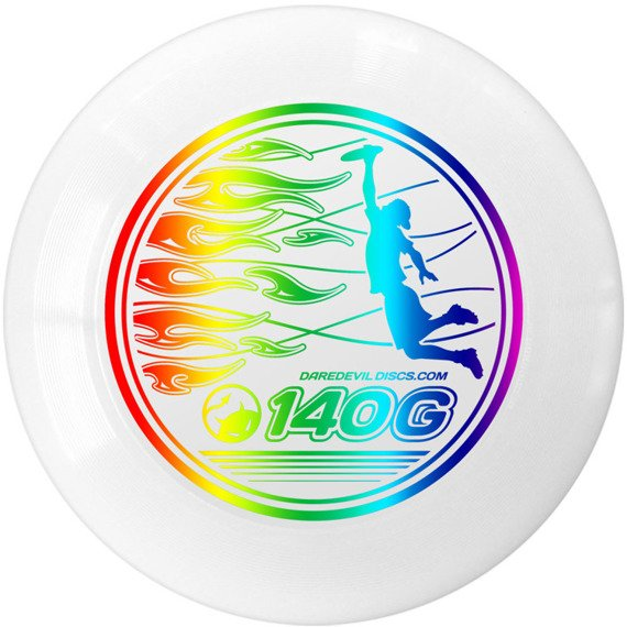 Dysk Frisbee Daredevil Ultimate 140g White Metallic Rainbow