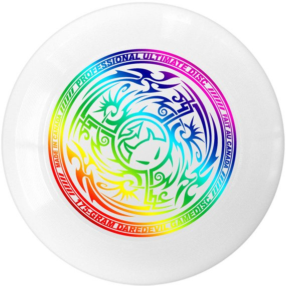 Dysk Frisbee Daredevil Ultimate 175g Tribal White Metallic Rainbow
