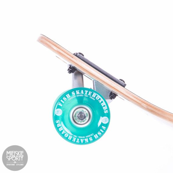 Fish Skateboards Drumfish Silver Transparent Green Longboard 89cm