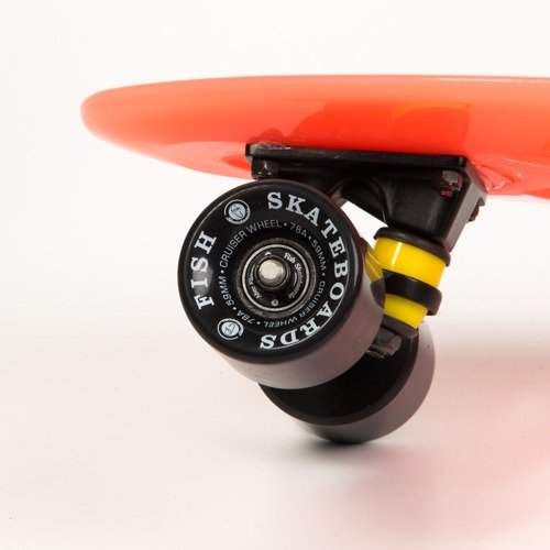 Fish Skateboards Glow Orange / Black / Black