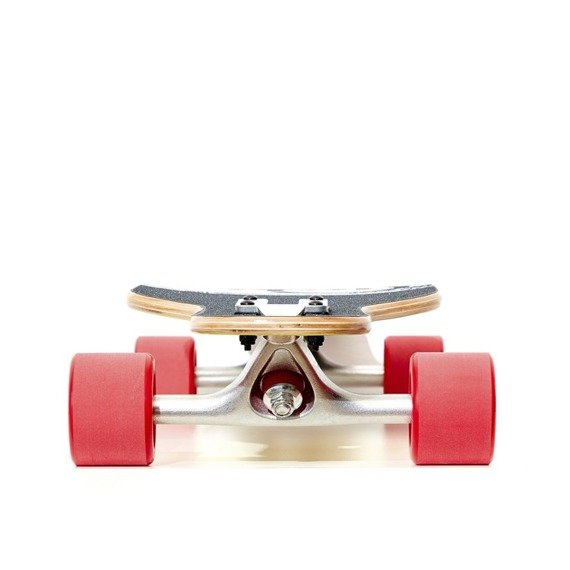 Fish Skateboards Viva La Cuba Silver Red Longboard 89cm