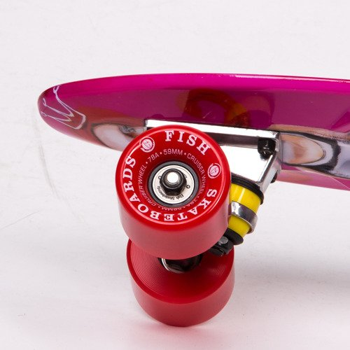 Fish skateboards 2015 Art Fish Girl / Silver / Red