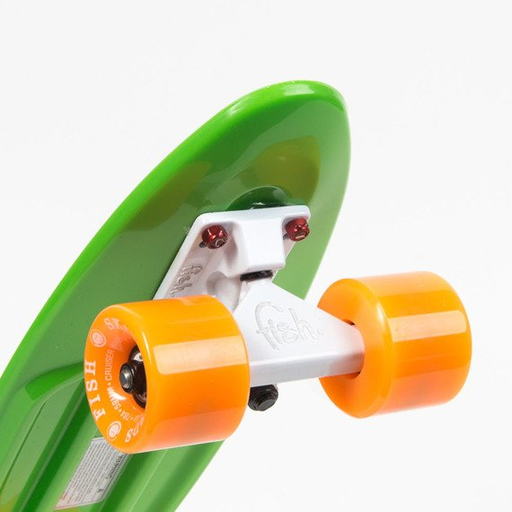 Fish skateboards GREEN/WHITE/ORANGE