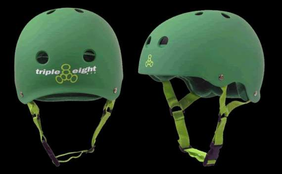 KASK TRIPLE EIGHT BRAINSAVER GREEN