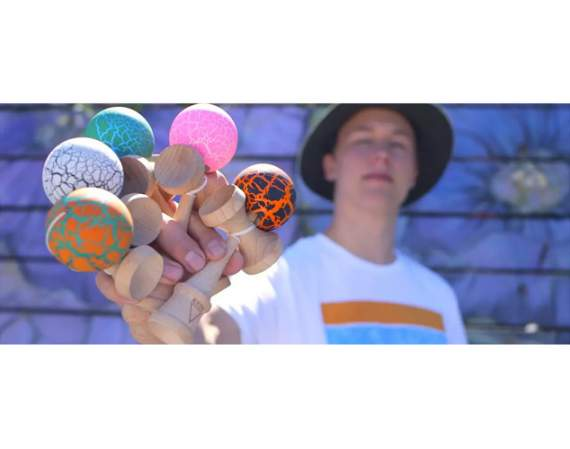 Kendama Krom Crack Orange/Green