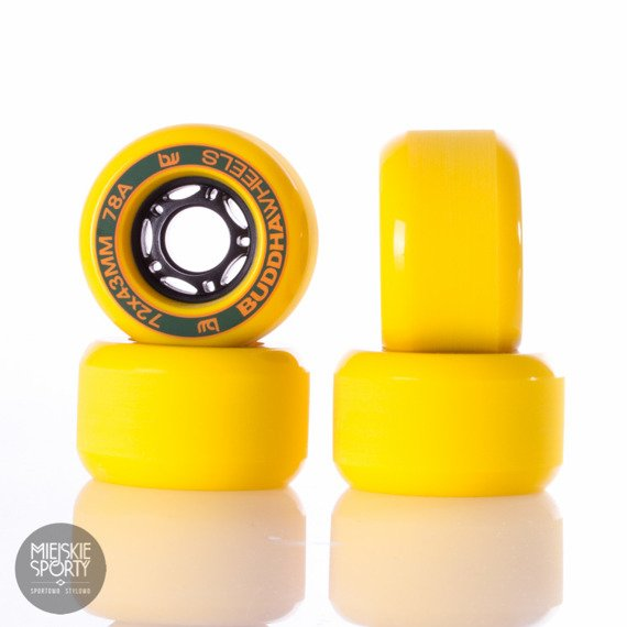 Kółka Buddha Wheels Hanshan Yellow 72mm 78a