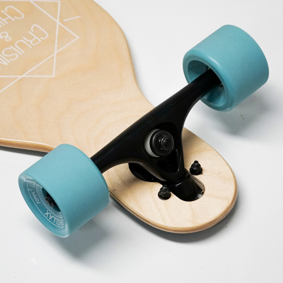 Longboard CHILLAX CADDY Drop-thru BLUE 104 cm + T-tool