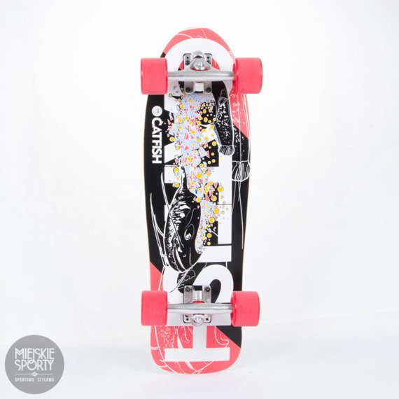 Shortboard Fish Skateboards Catfish Red