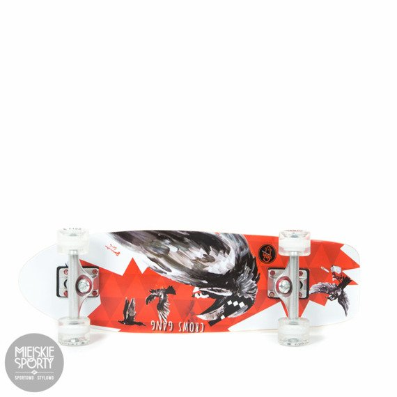 Shortboard Fish Skateboards Crow White