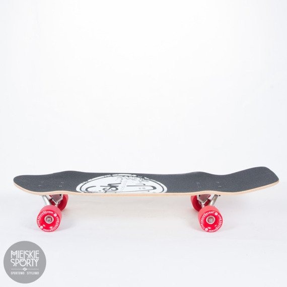 Shortboard Fish Skateboards Flounder Silver Red