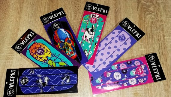 Vlepka Fish Skateboards Blue Fish