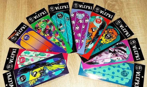 Vlepka Fish Skateboards Red Birds